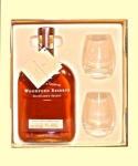 Woodford Reserve's holiday gift set includes two Woodford glasses.