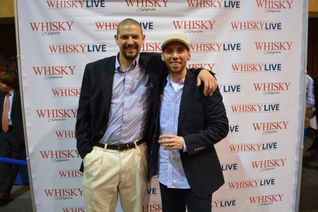 William Gemmell (of A Dram Good Time) and I at  Whisky Live Boston 2013
