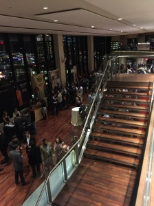 The view from the 2nd floor of the State Room during Whisky Live Boston 2014.